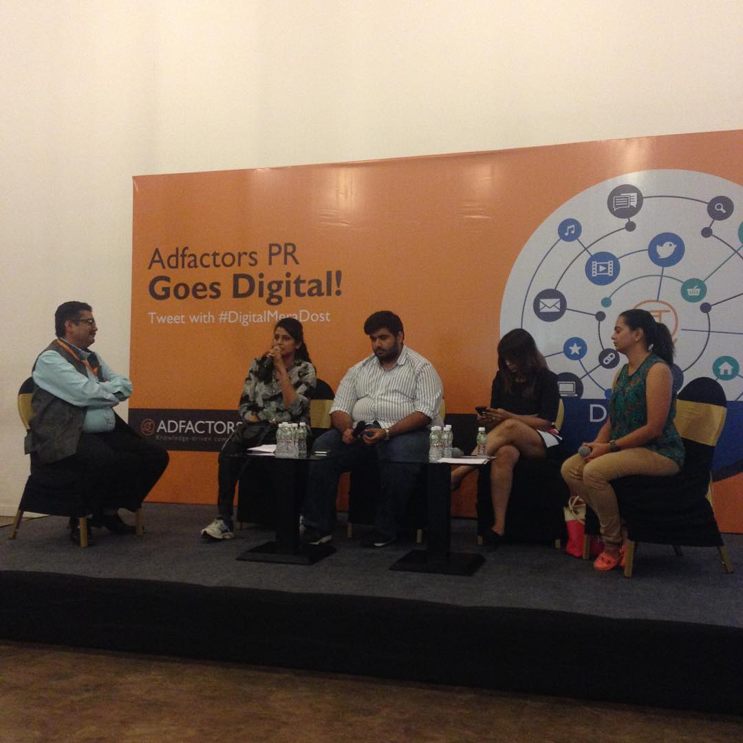 Amazing Panel Discussion on Blogger Outreach adfactorspr DigitalMeraDost