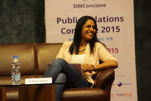 Valerie Pinto, CEO Weber Shandwick India, discussing 'PR Climbing the Value Chain in Marketing Communication Ladder.'